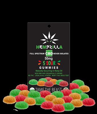 hempzilla cbd sour gummies
